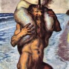 Faun and Nixe by Franz von Stuck - 24x18 IN Canvas