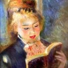 A reading girl1 by Renoir - 24x18 IN Canvas