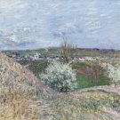 The Hills of Saint-Mammes at Spring, 1880 - 24x32 IN Canvas
