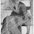 Woman on a bench by Seurat - 24x18 IN Canvas