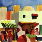 Market in Algier by Macke - A3 Poster