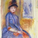 Young Girl in a Blue Dress, 1890 - A3 Poster