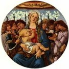 Madonna with eight angels singing by Botticelli - A3 Poster