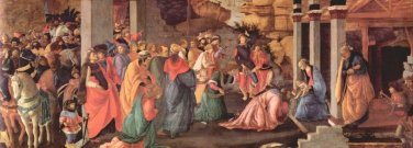 Adoration of the Magi (London) [1] by Botticelli - A3 Poster
