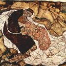 Death and the Woman by Schiele - 30x40 IN Canvas