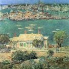 The port of Gloucester [2] by Hassam - Poster (24x32IN)