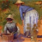 Study for The Grape Pickers 2, 1892 - 24x18 IN Canvas