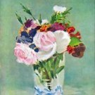 Still Life with Flowers [2] by Manet - 24x32 IN Canvas