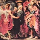Lot with his family to leave Sodom by Rubens - A3 Poster