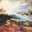River Landscape with a sower by Pieter Bruegel - Poster (24x32IN)