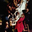 Cross, Triptych, Middle panel of Crucifixion by Rubens - A3 Poster