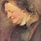 Portrait of an old woman by Rubens - A3 Poster
