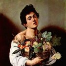 Boy with fruit basket by Caravaggio - A3 Poster