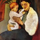 Mother and Child by August Macke - A3 Poster