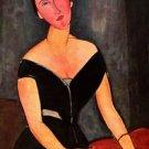 Modigliani - Portrait of Mrs van Muyden - A3 Poster