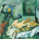 After lunch in Naples by Cezanne - A3 Poster