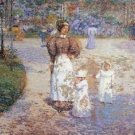 Spring in Central Park by Hassam - A3 Poster