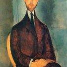 Modigliani - Portrait of Leopold Zborowski [2] - 24x18 IN Canvas
