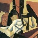 Still Life with a white tablecloth by Juan Gris - 24x18 IN Canvas