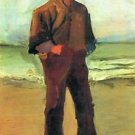 Fisher on the shore by Van Gogh - A3 Poster
