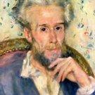 Portrait of a man by Renoir - 24x32 IN Canvas