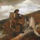 Homer - A Hunter and his Dogs - 30x40IN Canvas Painting