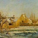 The Effect of Snow at l'Hermitage, 1874 - 24x32 IN Canvas