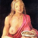 Old woman with a purse by Durer - A3 Paper Print