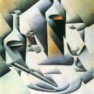 Still Life with bottles and knives by Juan Gris - 24x18 IN Canvas