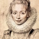 Portrait of the artist's daughter Clara Serena by Rubens - 24x18 IN Canvas