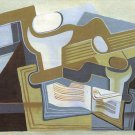 Guitar and Fruit Bowl [3] by Juan Gris - 24x18 IN Canvas