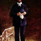 Portrait of Gilbert-Marcellin Desboutin - 24x18 IN Canvas