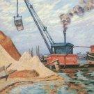 The Quay of Austerlitz, 1899 - 24x18 IN Canvas