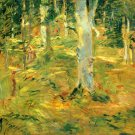 Forest of Compiegne by Morisot - 24x18 IN Canvas