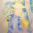 Portrait of Paule Gobillard by Morisot - 24x18 IN Canvas