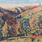 The Sedelle Valley of Crozant, 1898 - 24x18 IN Canvas