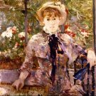 Young Girl in a Green House by Morisot - A3 Poster