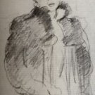 Study for  girl with the green coat - A3 Poster