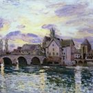 The Bridge of Moret at Sunset, 1892 - 30x40 IN Canvas