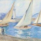Starting the Regatta, St. Tropez, 1920s - A3 Poster
