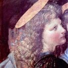 The Baptism of Christ detail [2] by Da Vinci - 30x40 IN Canvas
