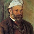 Self-portrait with a white turban by Cezanne - 30x40 IN Canvas