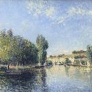 Banks of the Loing at Moret - 24x18 IN Canvas