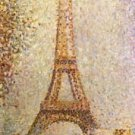 The Eiffel Tower by Seurat - A3 Poster
