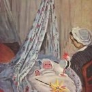 Jean Monet in the cradle by Monet - A3 Paper Print