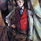 Boy in Red Waistcoat by Cezanne - A3 Paper Print