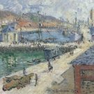 Port of Fecamp, 1924 - 24x18 IN Canvas