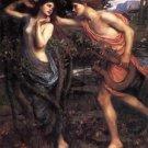 Apollo and Daphne waterhouse - 24x18 IN Canvas