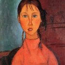 Modigliani - Girl with plaits - 24x18 IN Canvas