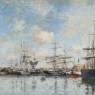 A French Harbour, 1888 - 24x32 IN Canvas